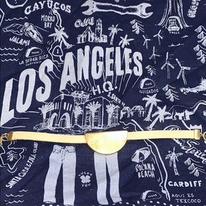 Lucky Brand leather & gold bracelet🍀
